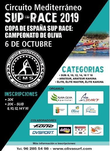 La localidad de la OLIVA acoge la Copa SUP RACE el 6 de Octubre