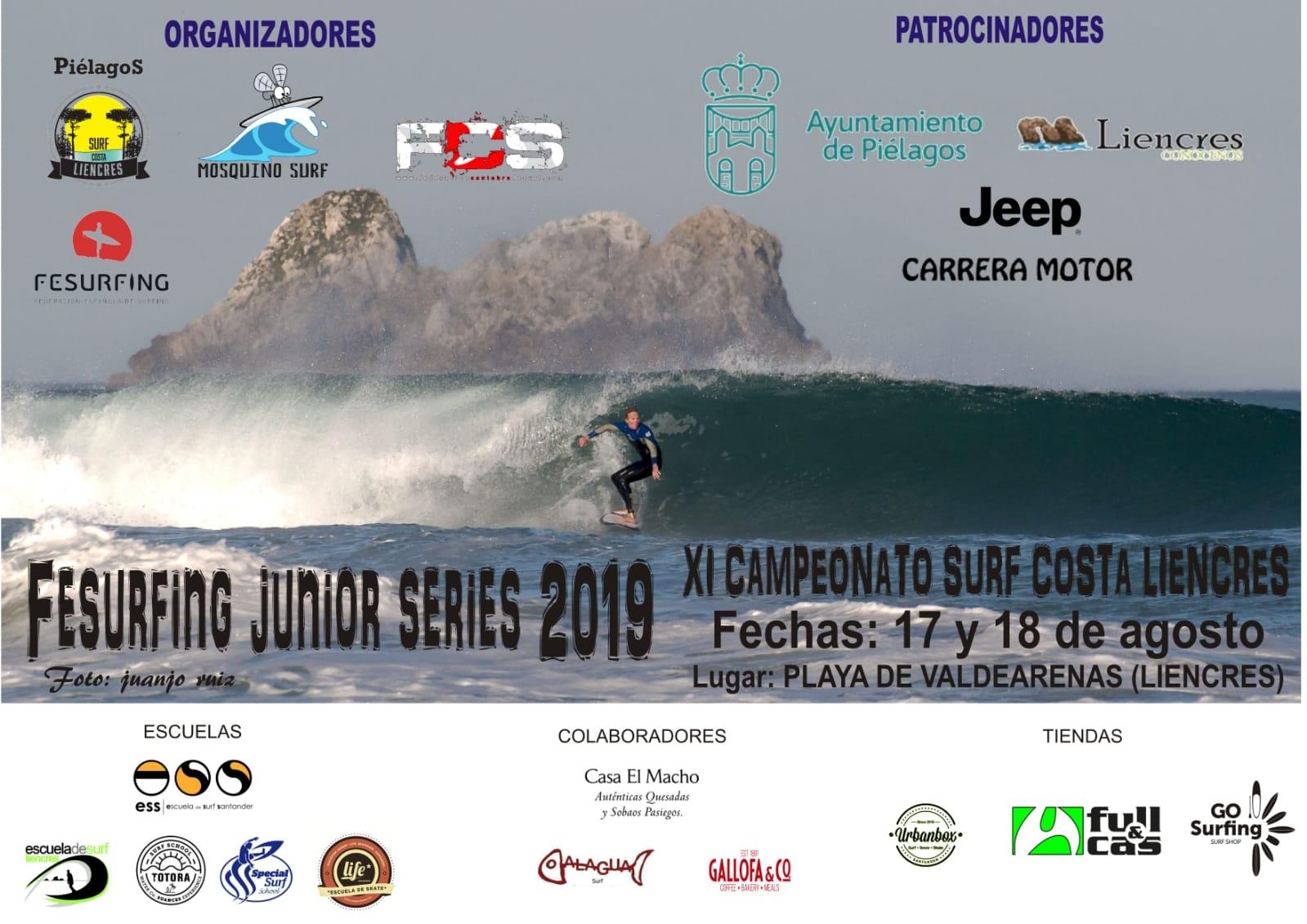 Confirmados los horarios del campeonato de surf Costa de Liencres del Fesurfing Junior Series