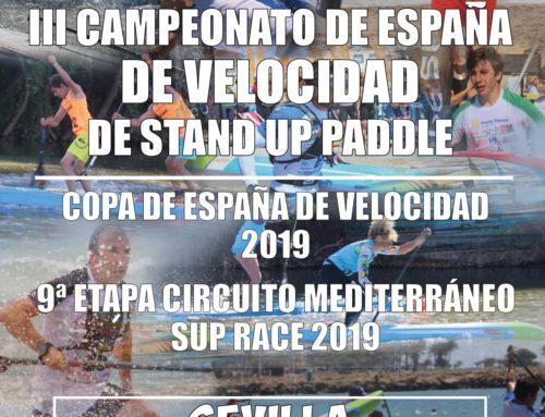 El 21 de Septiembre se celebra en Sevilla el CTO DE ESPAÑA de SUP VELOCIDAD 2019