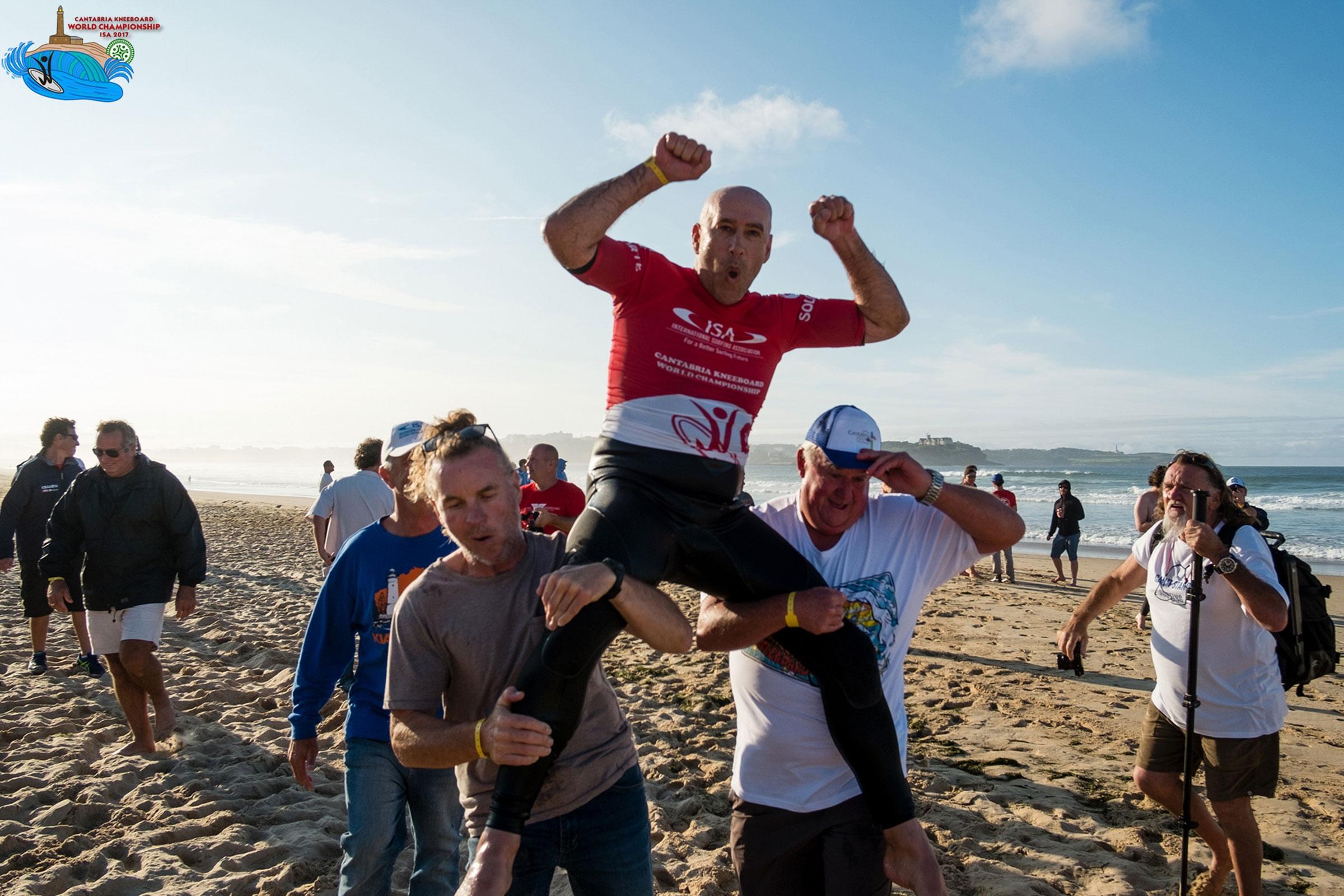Michael Novakov Y Poppke Karelle campeones del mundo de KNEEBOARD OPEN en Cantabria
