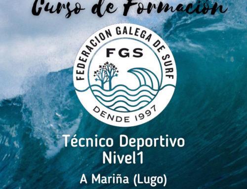 A partir del 26 de junio se celebrará en la Mariña Lucense el curso de Entrenador Nacional de Surf Nivel I
