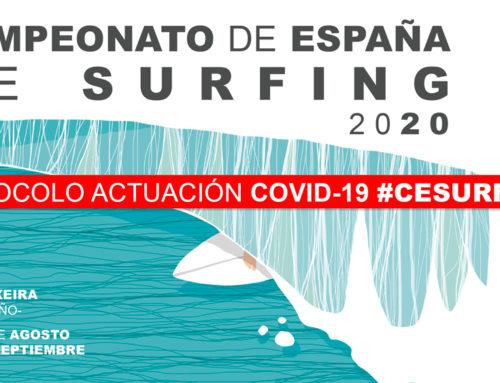 Protocolo de actuación para el Campeonato de España Surfing 2020