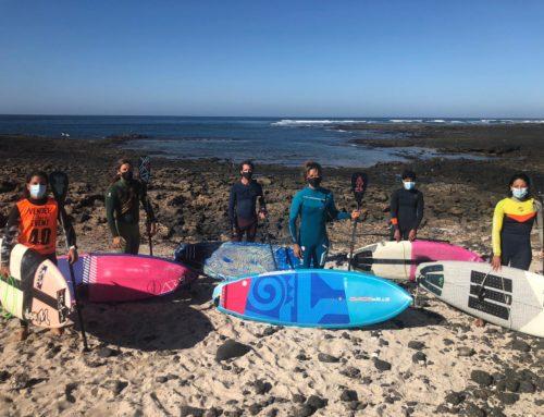 El equipo nacional de SUP Olas cierra el año con una concentración en Fuerteventura