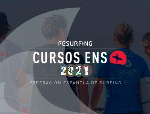 La Federación Española de Surfing hace pública la información de los Cursos Oficiales de Monitor Nacional de Surfing Nivel I para el 2021