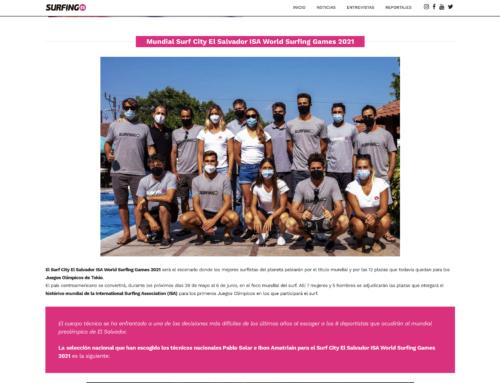 La Federación Española de Surfing publica la página donde se pueden encontrar todos los datos del equipo nacional, su palmarés e historia